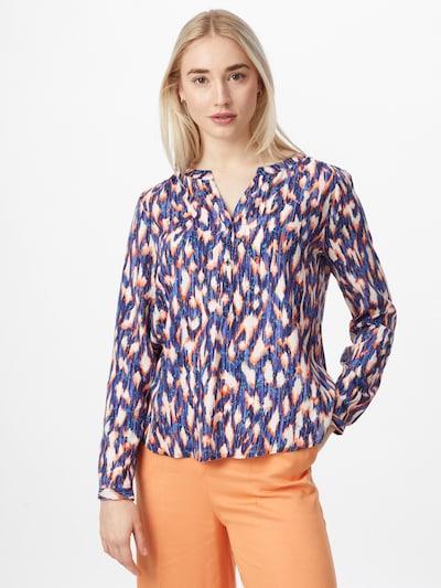 STREET ONE Bluse in blau / navy / orange / weiß, Modelansicht