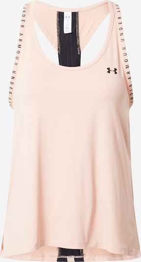 UNDER ARMOUR Sporttop 'Knockout' in nude / schwarz, Produktansicht