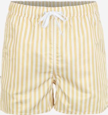 Pantaloncini da bagno di Resteröds in giallo