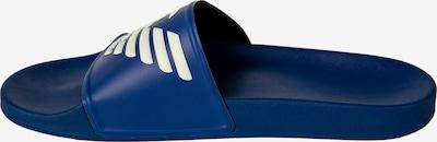 Emporio Armani Muiltjes in de kleur Blauw / Wit, Productweergave
