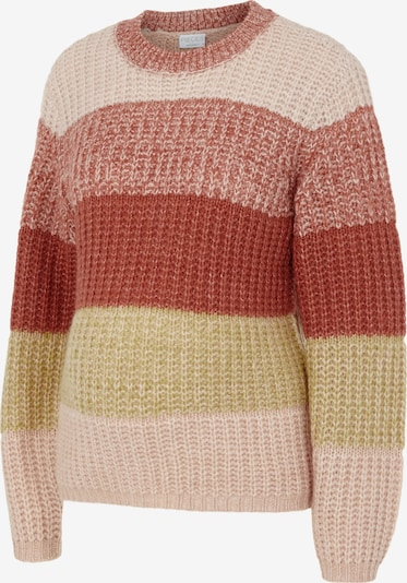 Pieces Maternity Sweater 'Ena' in Olive / Pink / Rusty red / mottled red, Item view