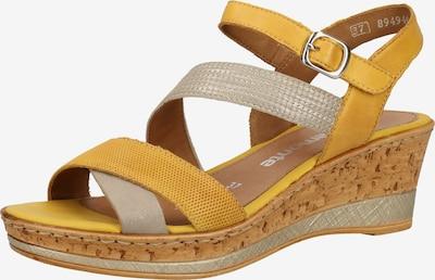 REMONTE Sandale in gelb / grau, Produktansicht