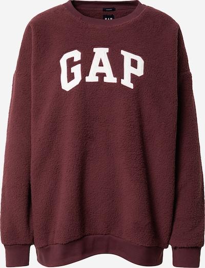 GAP Sweat-shirt en rouge foncé / blanc, Vue avec produit