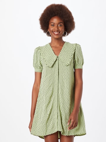 PIECES Shirt Dress 'Pys' in Green
