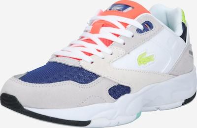LACOSTE Sneaker 'STORM' in blau / hellgrau / dunkelorange / weiß, Produktansicht
