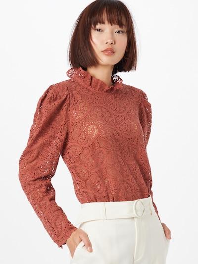 IVY & OAK Bluse in kastanienbraun, Modelansicht