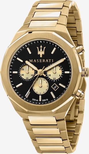 Maserati Uhr 'Stile' in gold / schwarz, Produktansicht