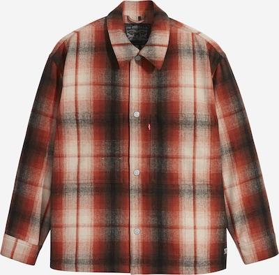 LEVI'S Tepláková bunda - béžová / červená / čierna, Produkt