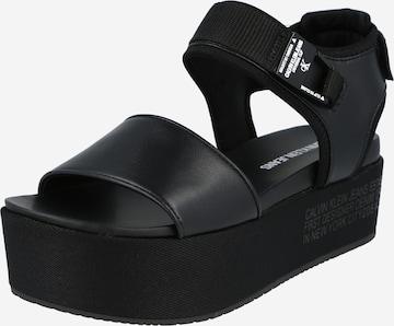 Calvin Klein Jeans Sandale in Schwarz
