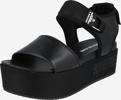 Sandale Calvin Klein Jeans pe negru, Vizualizare produs
