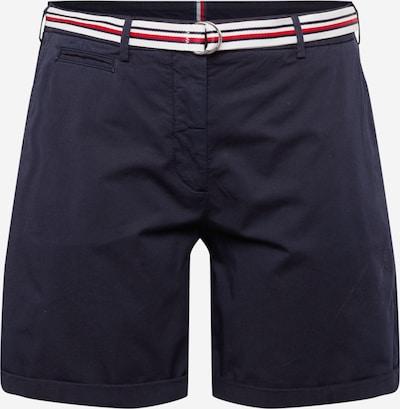 Tommy Hilfiger Curve Pantalón chino en azul oscuro / rojo / blanco, Vista del producto