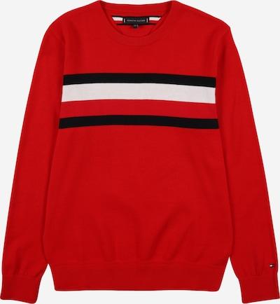 TOMMY HILFIGER Pullover in nachtblau / rot / weiß, Produktansicht