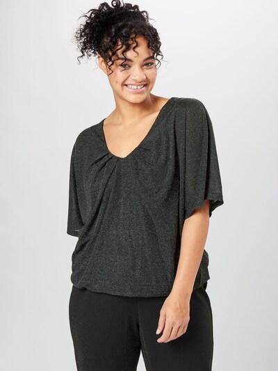Zizzi Blouse in de kleur Zwart / Zilver, Modelweergave