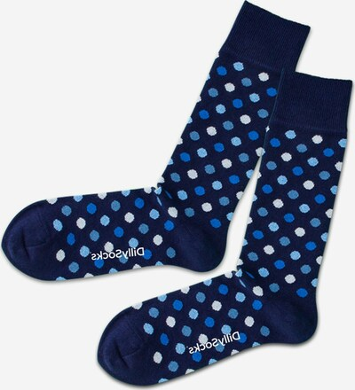 DillySocks Socken in dunkelblau / weiß, Produktansicht