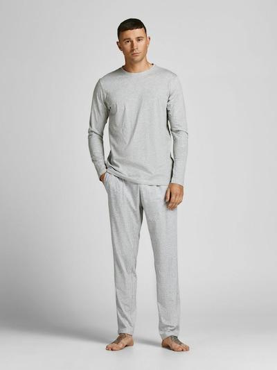 JACK & JONES Pyjama in graumeliert, Modelansicht
