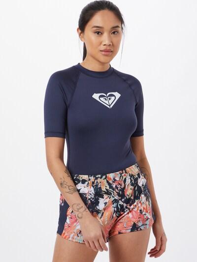 ROXY Функционална тениска 'WHOLEHEARTED' в виолетов / бяло: Изглед отпред