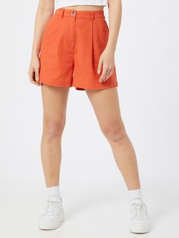 VILA Bandplooibroek 'Alina' in Oranje