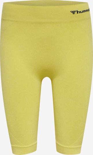 Hummel Pantalon de sport 'Ci' en jaune fluo / noir, Vue avec produit