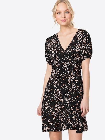 Cotton On Kleid in orange / dunkelorange / schwarz / weiß, Modelansicht