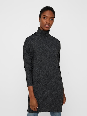 VERO MODA Knitted dress 'BRILLIANT' in Grey