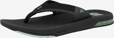 REEF Strand-/badschoen 'Fanning Low' in de kleur Zwart / Wit, Productweergave