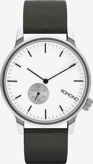 Komono Uhr in silbergrau / schwarz, Produktansicht