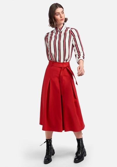 Peter Hahn Langarmbluse in rot, Modelansicht