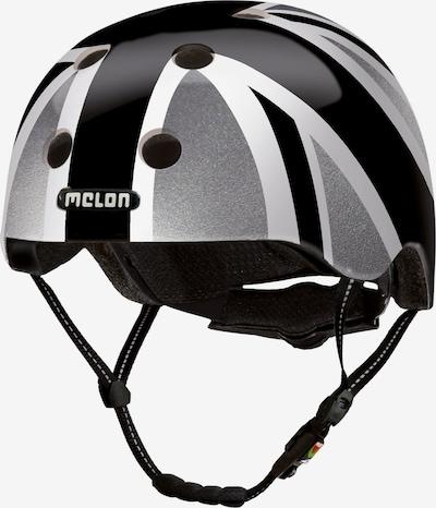 Melon Helm in grau / schwarz / weiß, Produktansicht