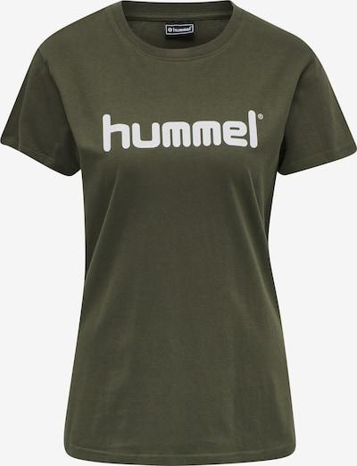 Hummel Functioneel shirt in de kleur Kaki / Wit, Productweergave