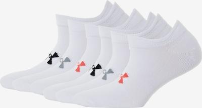 UNDER ARMOUR Socken in grau / koralle / schwarz / weiß, Produktansicht