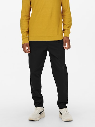 Only & Sons Pantalon chino en noir, Vue avec modèle