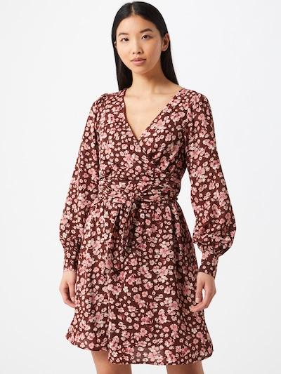 Fashion Union Kleid in braun / pink / rot, Modelansicht