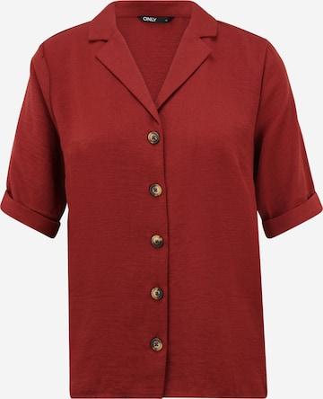 Only Tall Bluse 'SKY' i rød