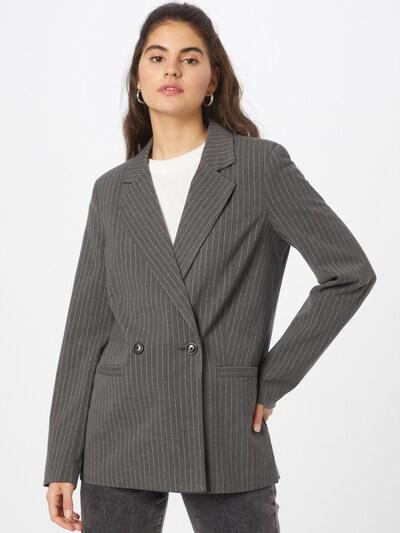 VILA Blazer 'Mauve' in Dark grey / White, View model