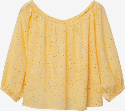 MANGO Bluse 'PIA' i gul / kirsebærrød / hvit, Produktvisning