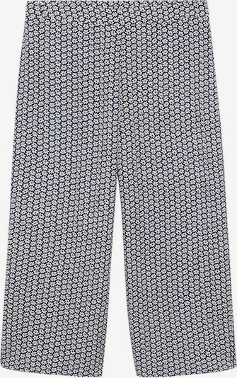 Pantaloni VIOLETA by Mango pe bleumarin / galben muștar / negru / alb, Vizualizare produs