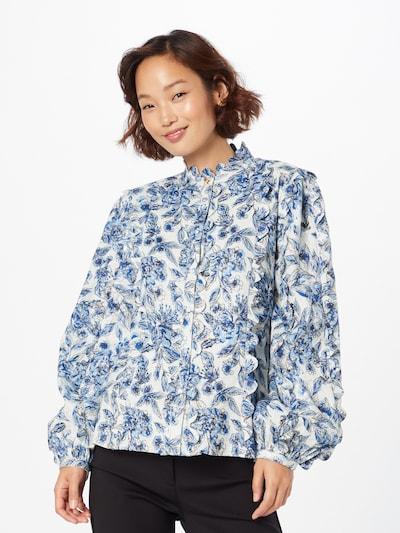 Fabienne Chapot Blusa en azul / azul claro / blanco natural, Vista del modelo