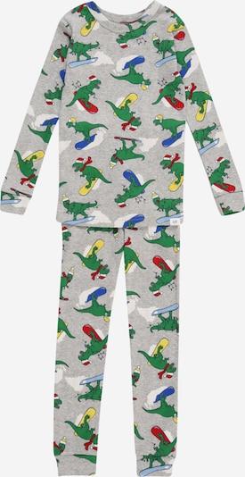 GAP Pidžama set u plava / žuta / siva melange / zelena / crvena, Pregled proizvoda