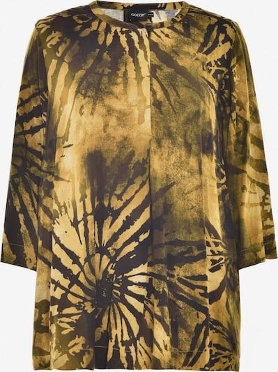 GOZZIP Bluse in dunkelbraun / gold, Produktansicht