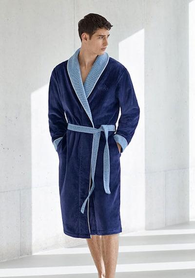 BOSS Home Kimono 'LORD' in blau / navy, Modelansicht