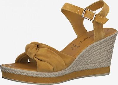Sandale cu baretă MARCO TOZZI pe galben șofran, Vizualizare produs