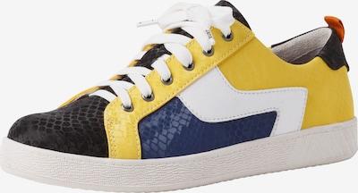 JANA Sneakers laag in de kleur Blauw / Geel / Zwart / Wit: Vooraanzicht