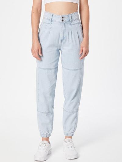 Tally Weijl Bandplooi jeans 'KIMBE' in de kleur Lichtblauw, Modelweergave