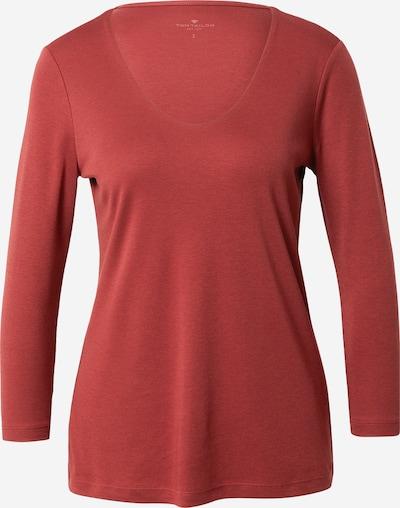 TOM TAILOR Shirt in rostrot, Produktansicht