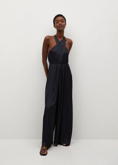 MANGO Jumpsuit 'Twisted' in schwarz, Modelansicht