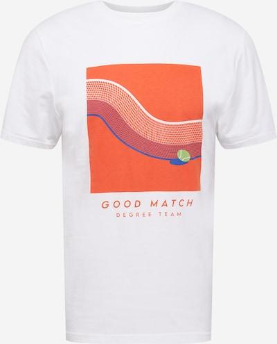 Tricou 'Good Match' Degree pe albastru regal / verde măr / portocaliu / alb, Vizualizare produs