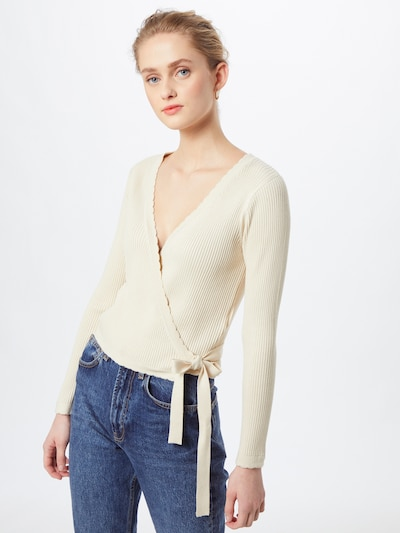 ABOUT YOU Knit cardigan 'Shelly' in Nude, View model