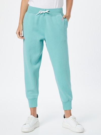 Pantaloni POLO RALPH LAUREN pe albastru aqua, Vizualizare model