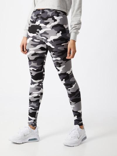 Urban Classics Leggings en gris / noir / blanc, Vue avec modèle