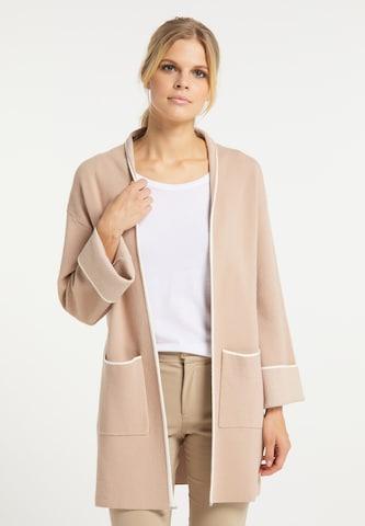 Manteau en tricot usha WHITE LABEL en rose